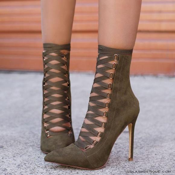 443346c04b6c7 Shoesbyjess Shoes | Last Pairbest Selling Gladiator Heels Green ...